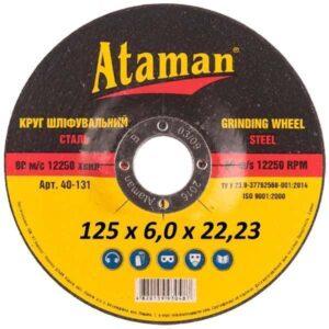 Круг зачистной по металлу Атаман 125х6х22