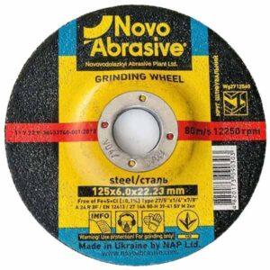 Круг зачистной по металлу NovoAbrasive 125х6х22