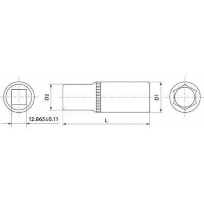 чертеж торцевая головка THORVIK FS11214